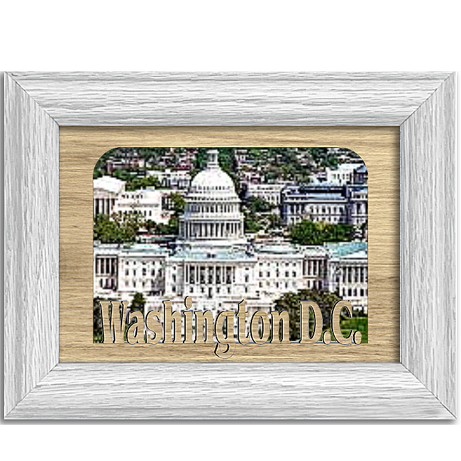 Washington D.C. Tabletop Picture Frame - Holds 4x6 Photo - Multiple Color Options