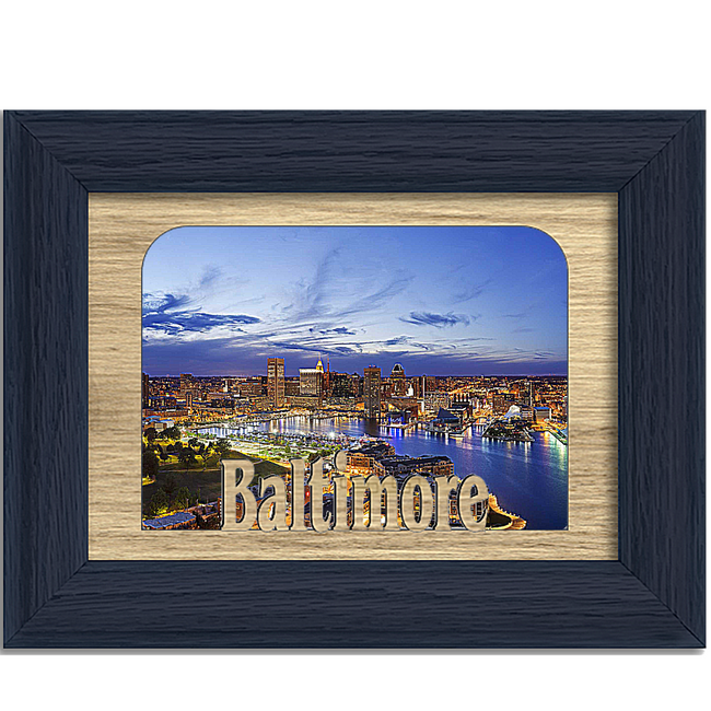 Baltimore Tabletop Picture Frame - Holds 4x6 Photo - Multiple Color Options