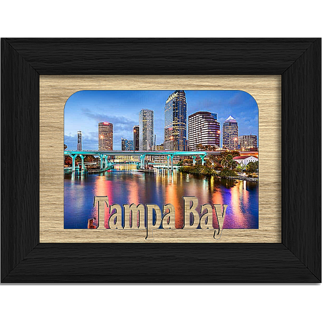 Tampa Bay Tabletop Picture Frame - Holds 4x6 Photo - Multiple Color Options