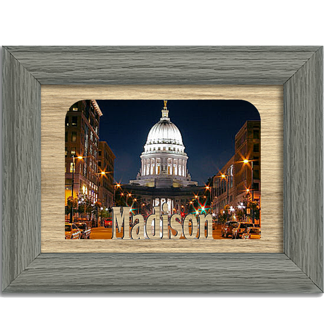 Madison Tabletop Picture Frame - Holds 4x6 Photo - Multiple Color Options