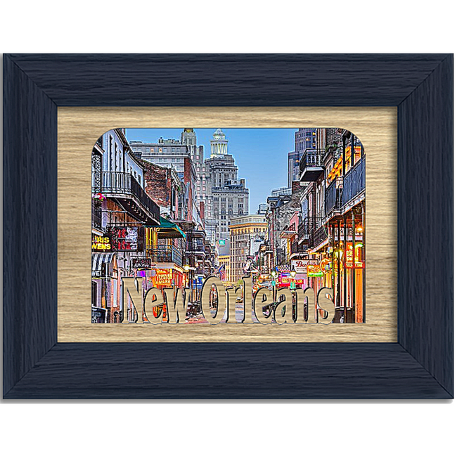 New Orleans Tabletop Picture Frame - Holds 4x6 Photo - Multiple Color Options