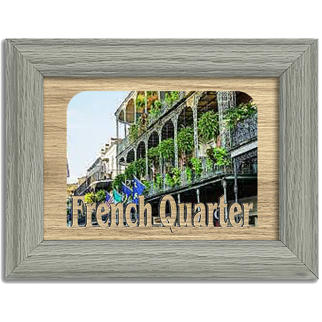 French Quarter Tabletop Picture Frame - Holds 4x6 Photo - Multiple Color Options