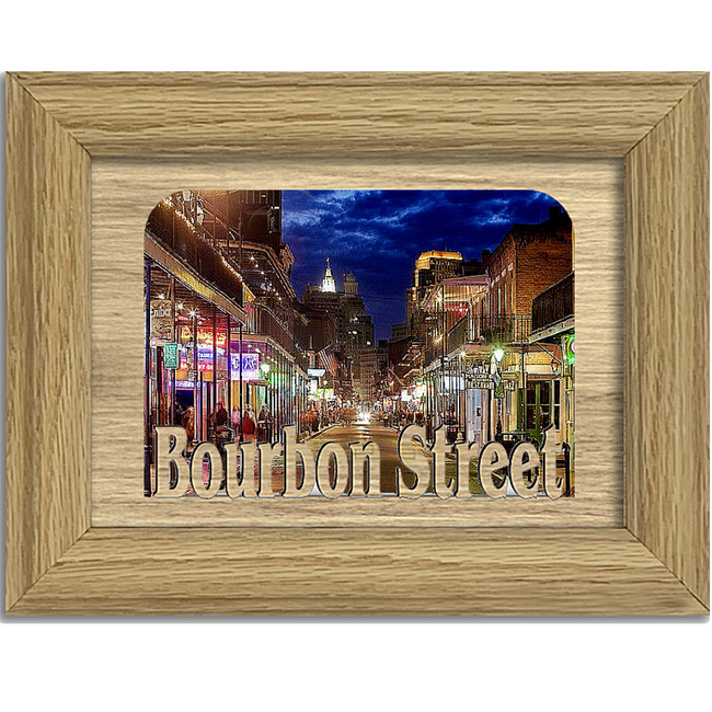 Bourbon Street Tabletop Picture Frame - Holds 4x6 Photo - Multiple Color Options