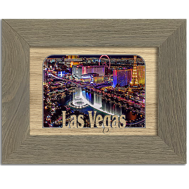Las Vegas Tabletop Picture Frame - Holds 4x6 Photo - Multiple Color Options