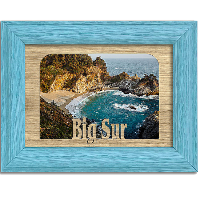 Big Sur Tabletop Picture Frame - Holds 4x6 Photo - Multiple Color Options
