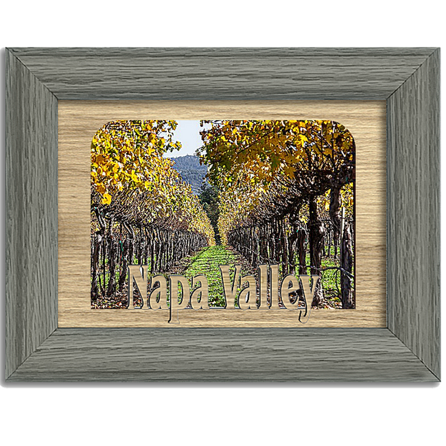 Napa Valley Tabletop Picture Frame - Holds 4x6 Photo - Multiple Color Options