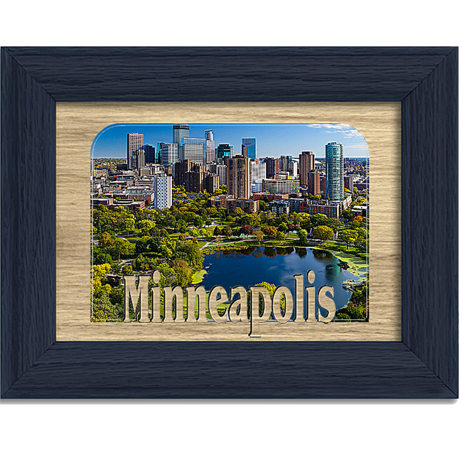 Minneapolis Tabletop Picture Frame - Holds 4x6 Photo - Multiple Color Options