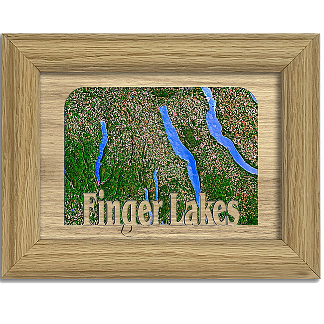 Finger Lakes Tabletop Picture Frame - Holds 4x6 Photo - Multiple Color Options