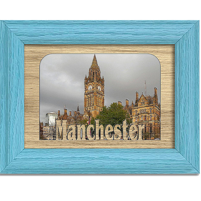 Manchester Tabletop Picture Frame - Holds 4x6 Photo - Multiple Color Options