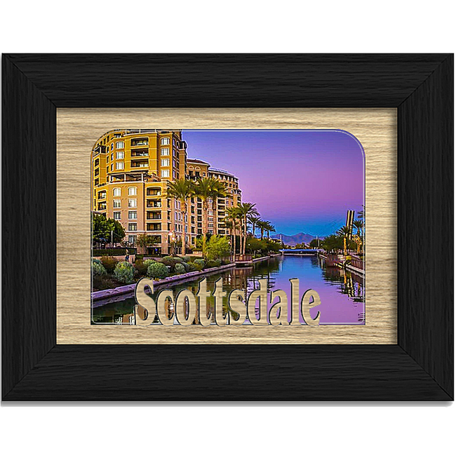 Scottsdale Tabletop Picture Frame - Holds 4x6 Photo - Multiple Color Options