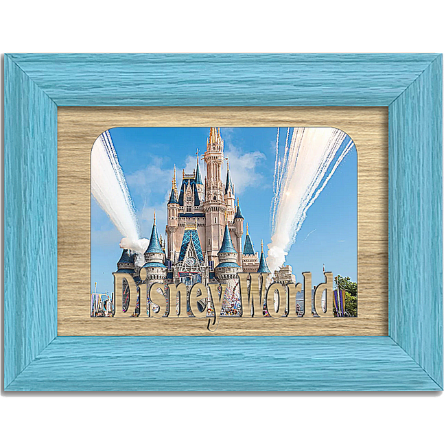 Disney World Tabletop Picture Frame - Holds 4x6 Photo - Multiple Color Options