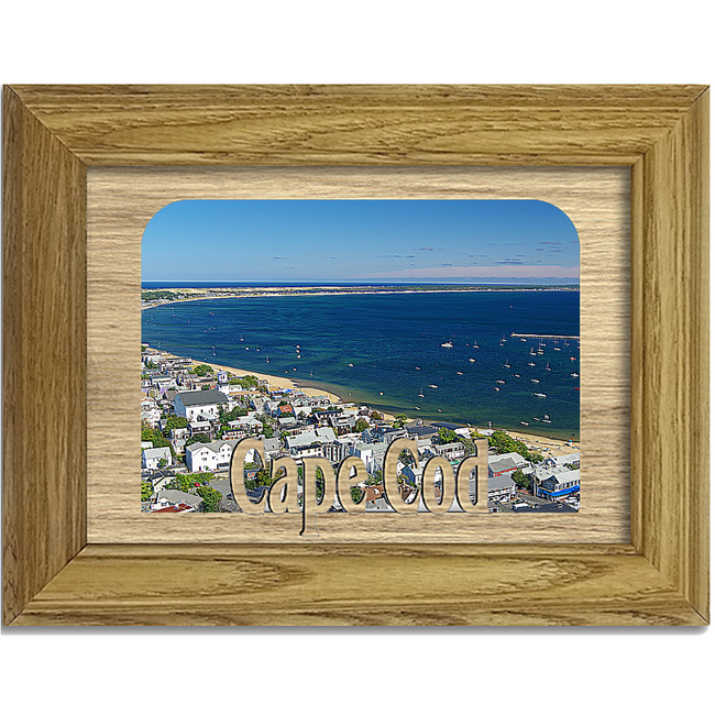 Cape Cod Tabletop Picture Frame - Holds 4x6 Photo - Multiple Color Options