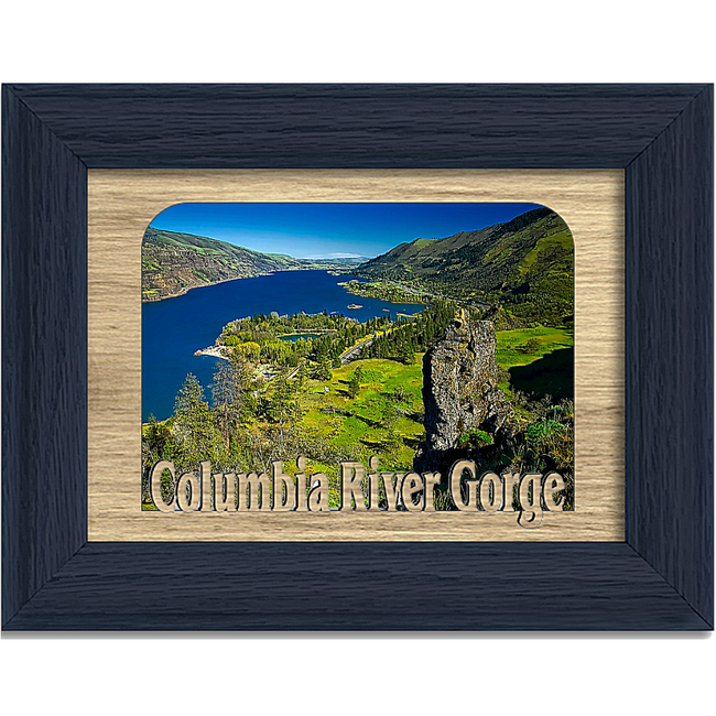 Columbia River Gorge Tabletop Picture Frame - Holds 4x6 Photo - Multiple Color Options