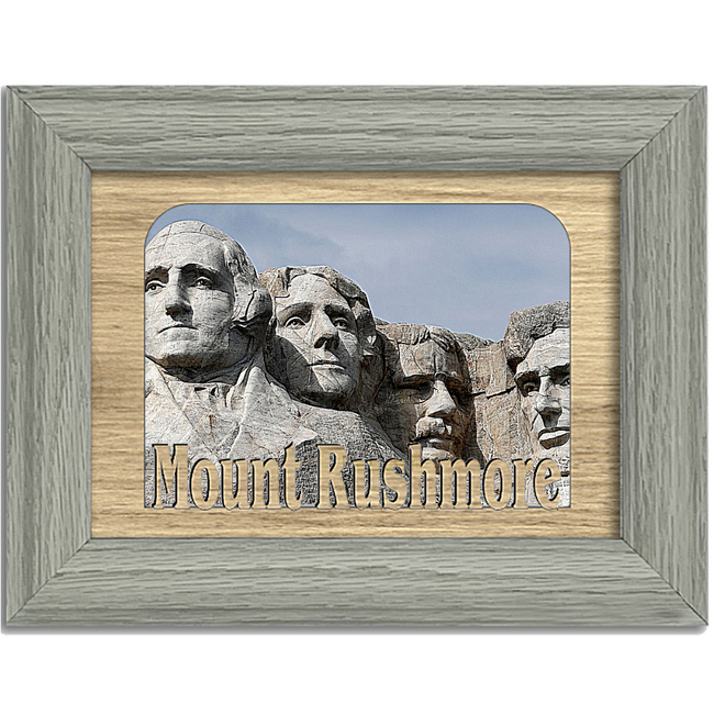 Mount Rushmore Tabletop Picture Frame - Holds 4x6 Photo - Multiple Color Options