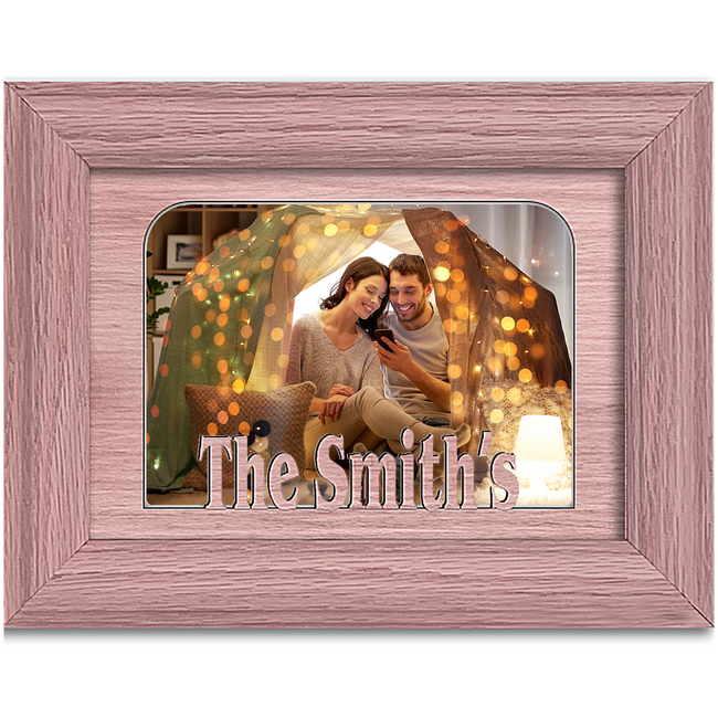 The Smith's Tabletop Picture Frame - Holds 4x6 Photo - Multiple Color Options