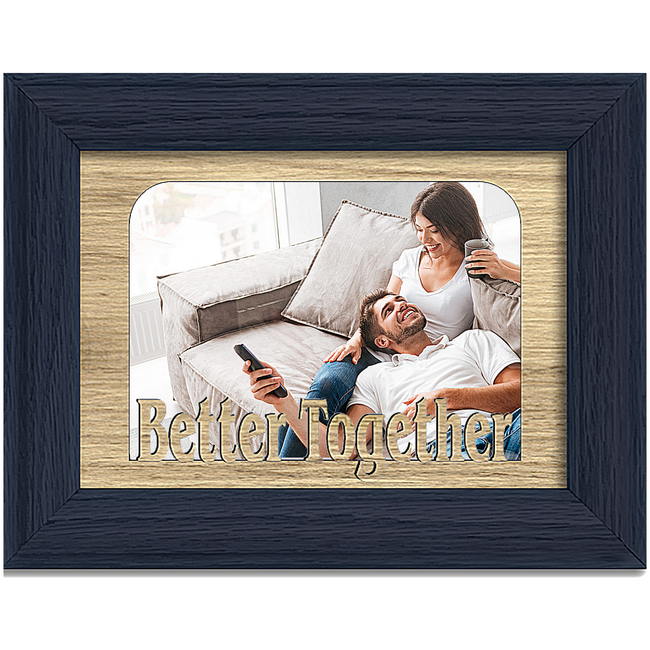 Better Together Tabletop Picture Frame - Holds 4x6 Photo - Multiple Color Options