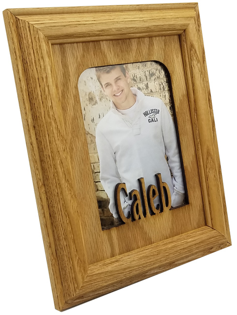 School Year Picture Frame - Personalized with Any Name - (Shown in Oak Frame) 10 Color Options - Name Frame - 5x7