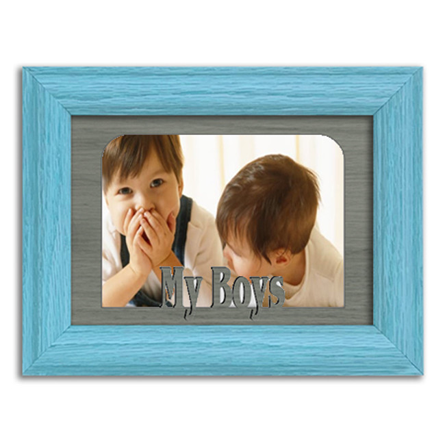 My Boys Tabletop Picture Frame - Holds 4x6 Photo - Multiple Color Options