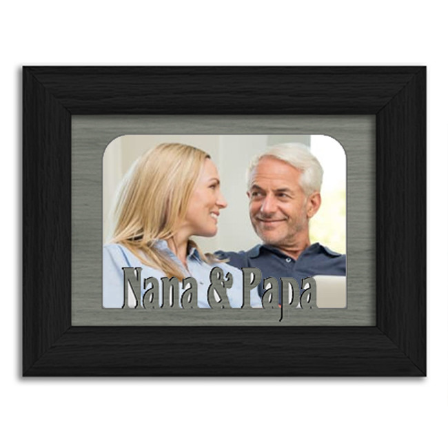 Nana and Papa Tabletop Picture Frame - Holds 4x6 Photo - Multiple Color Options