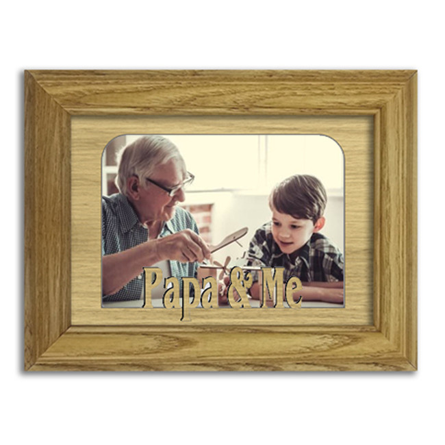 Papa and Me Tabletop Picture Frame - Holds 4x6 Photo - Multiple Color Options