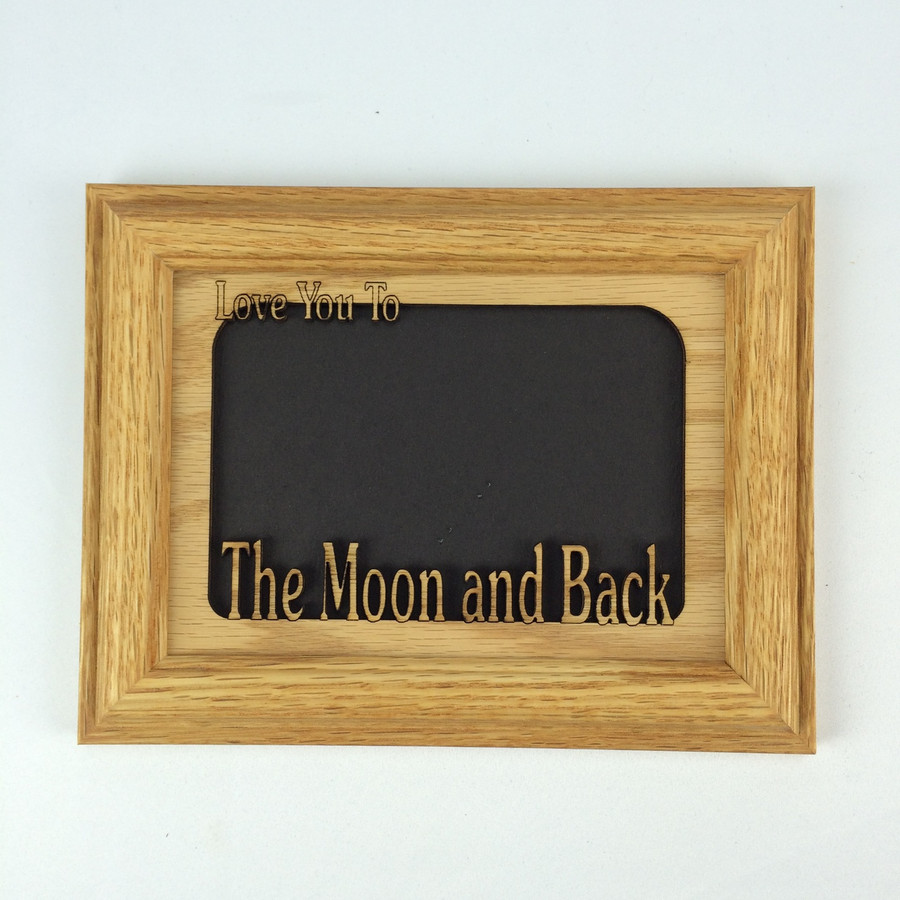 Love You to the Moon and Back Tabletop picture frame