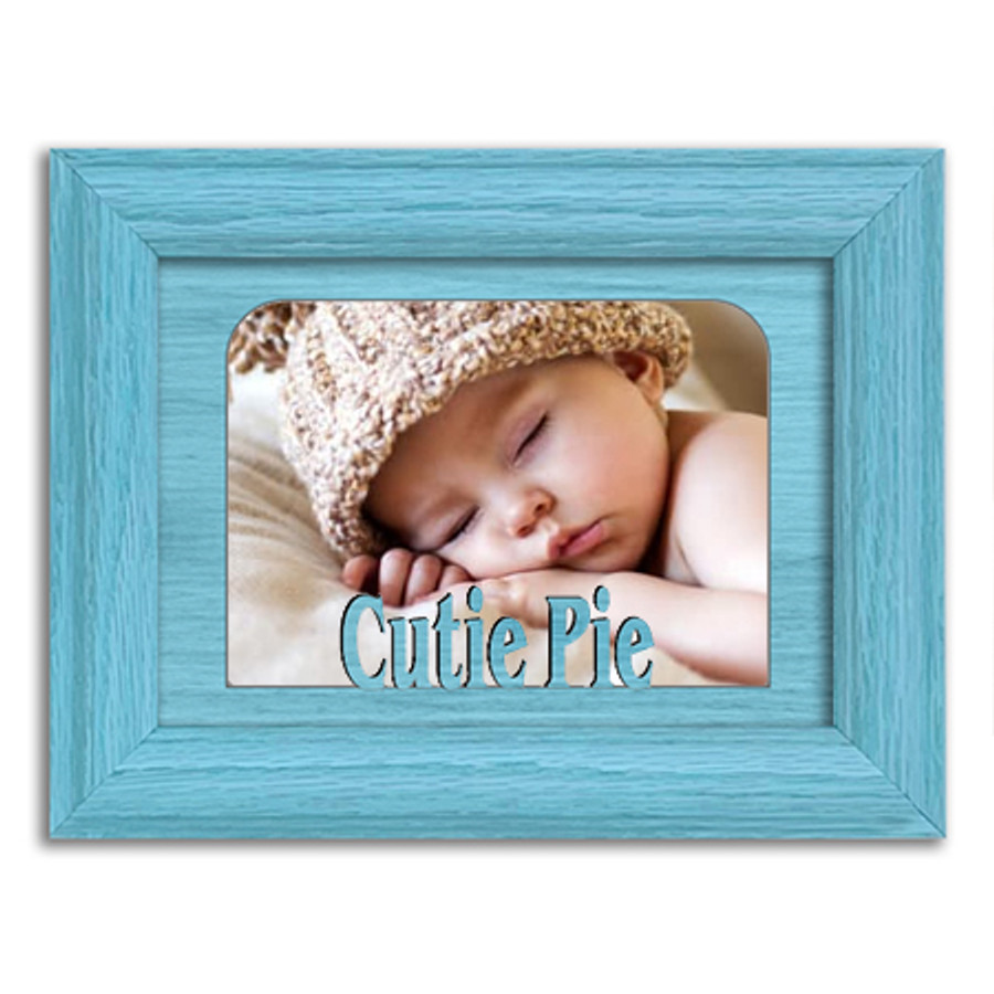 Cutie Pie Tabletop Picture Frame - Holds 4x6 Photo - Multiple Color Options