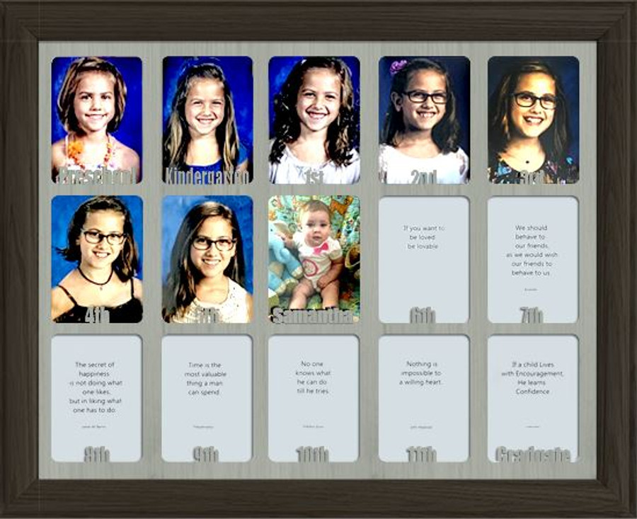 School Years Picture Frame Collage - Personalized - Preschool - 11x14