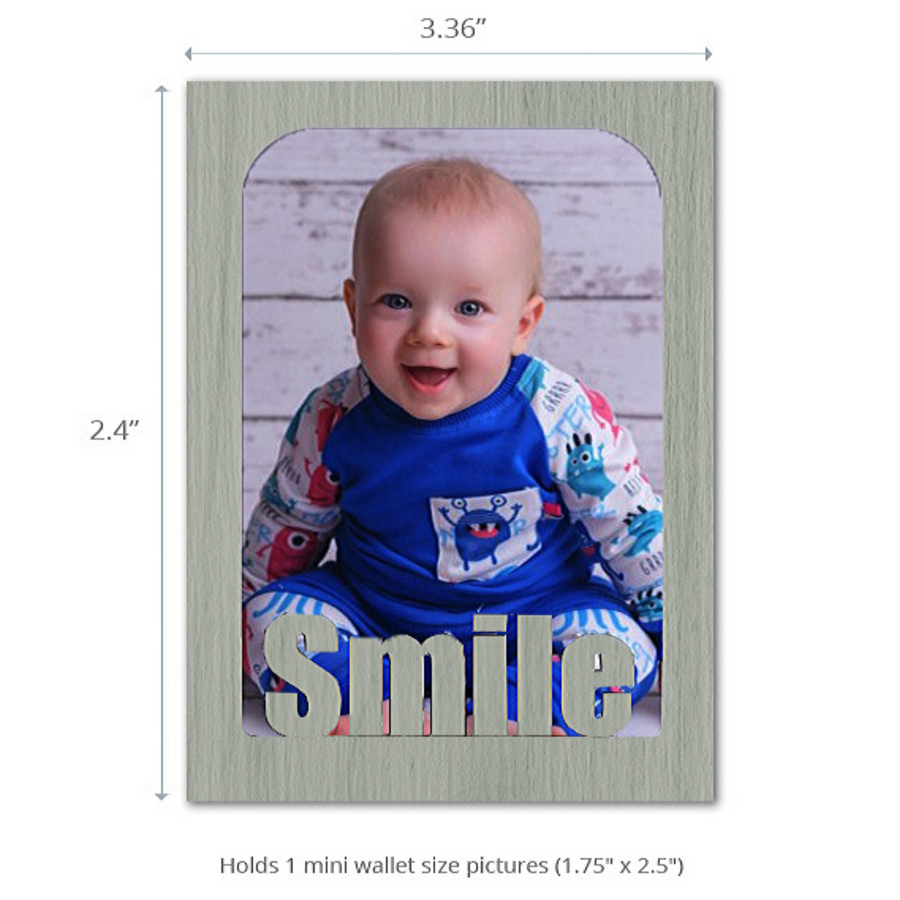 Smile - Magnet Photo Frame - Mini Wallet Pictures