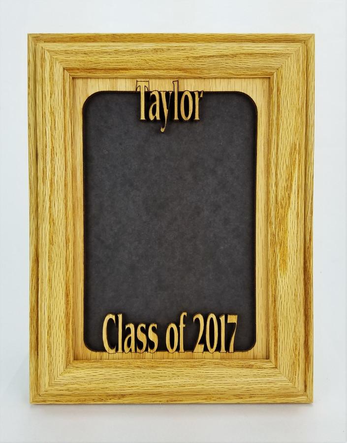 Graduation Tabletop Picture Frame- Oak frame
