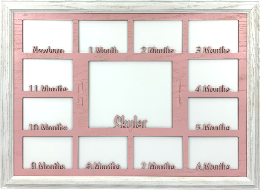 Baby First Year Picture Frame Collage - Personalized - Horizontal - 19x27