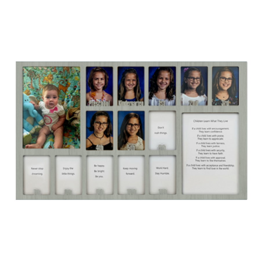 School Years Picture INSERT (No Frame) Collage - Personalized - 12x20