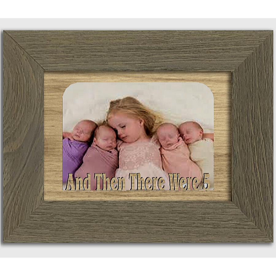 And Then There Were 5 Tabletop Picture Frame - Holds 4x6 Photo - Multiple Color Options