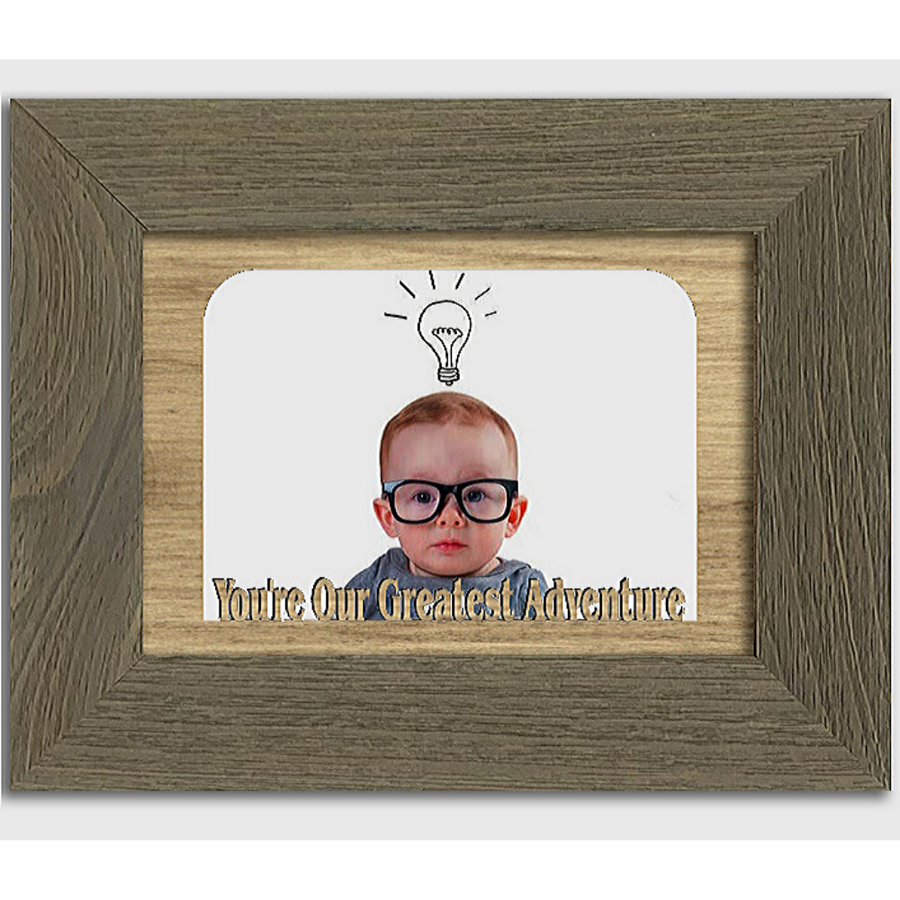 You're Our Greatest Adventure Tabletop Picture Frame - Holds 4x6 Photo - Multiple Color Options