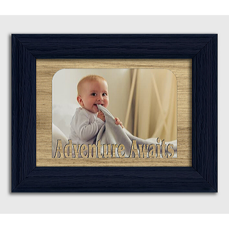 Adventure Awaits Tabletop Picture Frame - Holds 4x6 Photo - Multiple Color Options