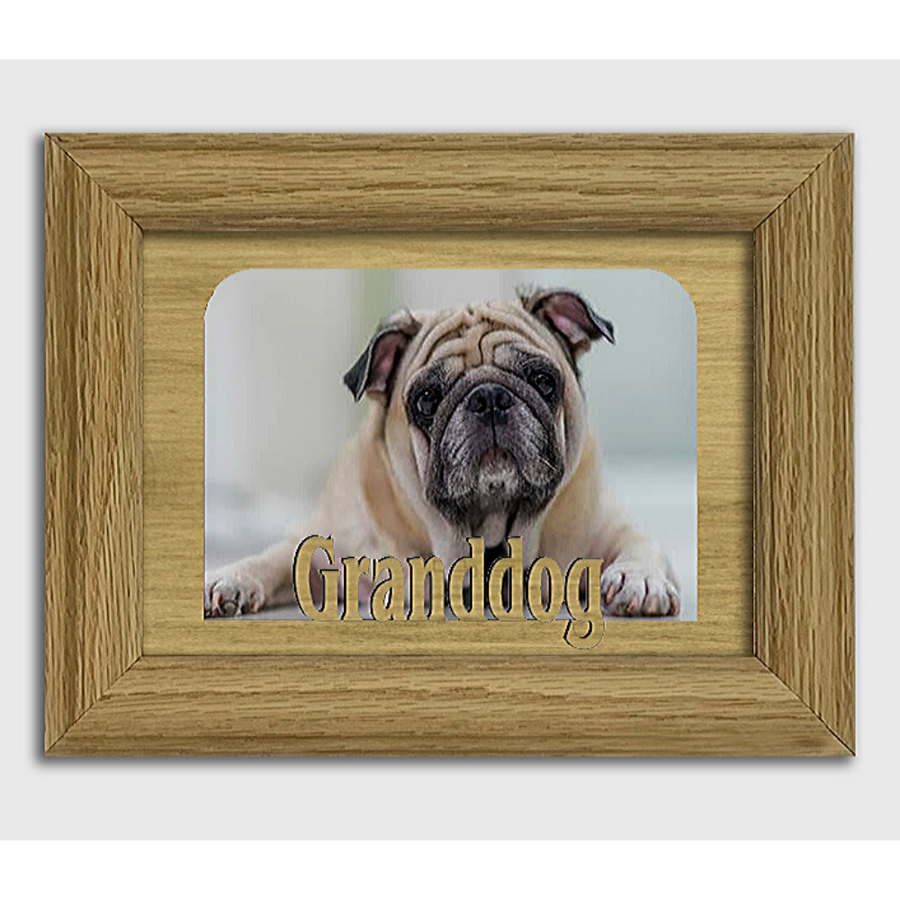 Granddog - Pet Animal Frame - Tabletop Picture Frame - Holds 4x6 Photo - Multiple Color Options