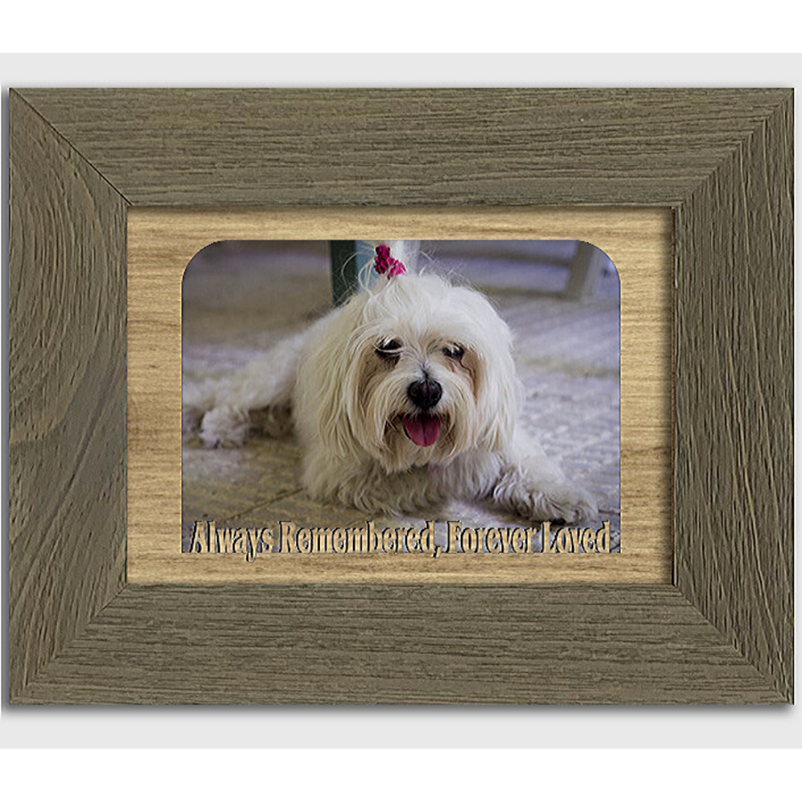 Always Remembered, Forever Loved Tabletop Picture Frame - Holds 4x6 Photo - Multiple Color Options