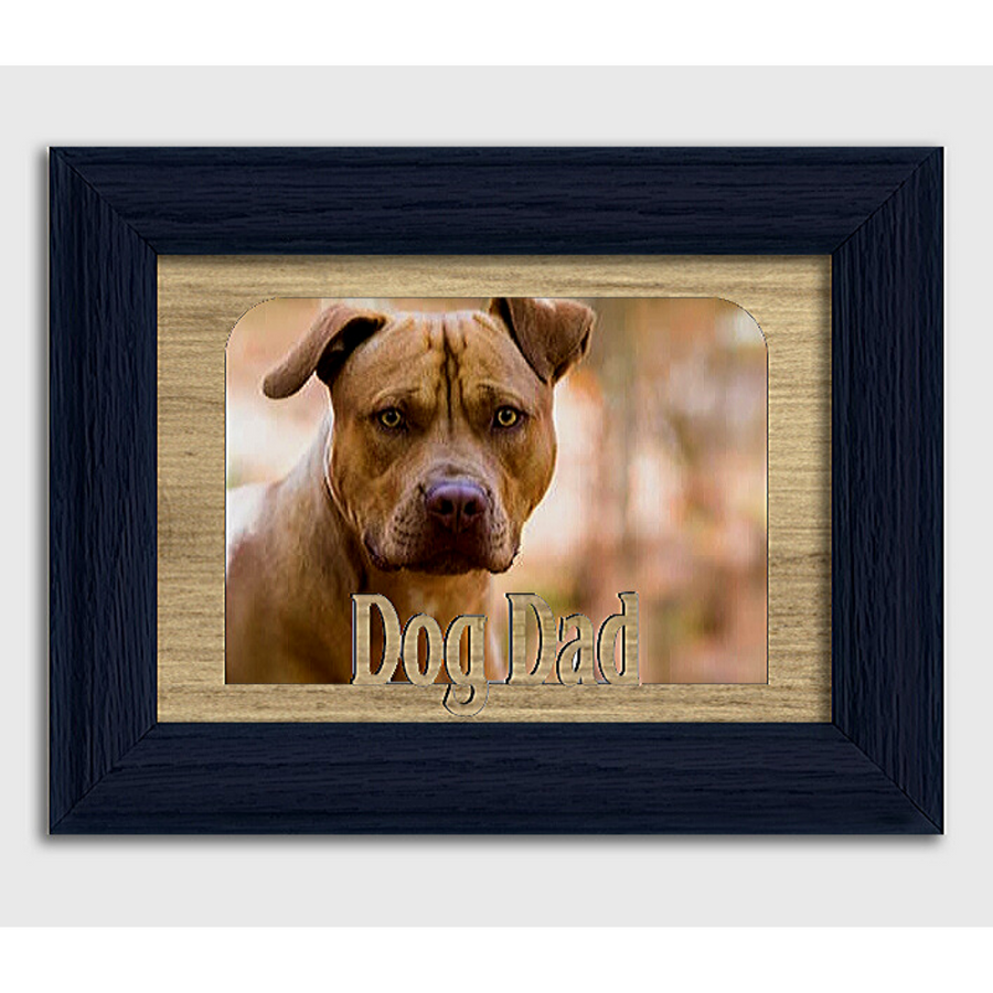 Dog Dad Tabletop Picture Frame - Holds 4x6 Photo - Multiple Color Options
