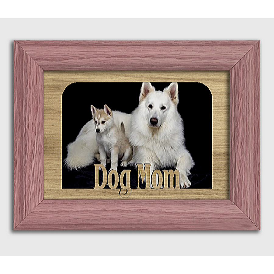 Dog Mom Tabletop Picture Frame - Holds 4x6 Photo - Multiple Color Options