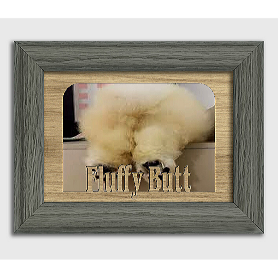 Fluffy Butt Tabletop Picture Frame - Holds 4x6 Photo - Multiple Color Options