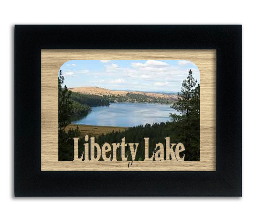 Washington Liberty Lake Personalized Custom Lake Name Picture Frame 5x7