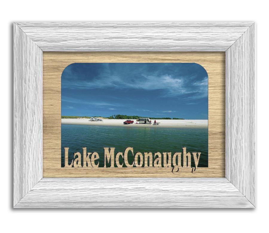 Nebraska Lake McConaughy Personalized Custom Lake Name Picture Frame 5x7