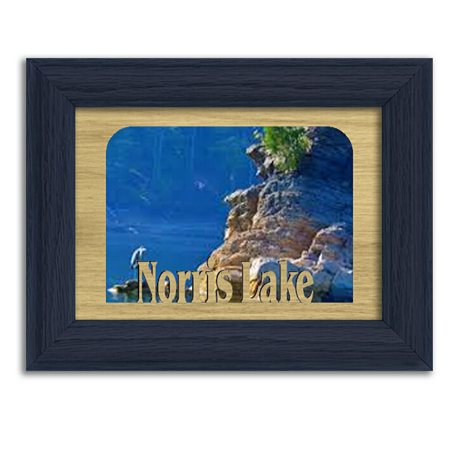 Tennessee Norris Lake Personalized Custom Lake Name Picture Frame 5x7