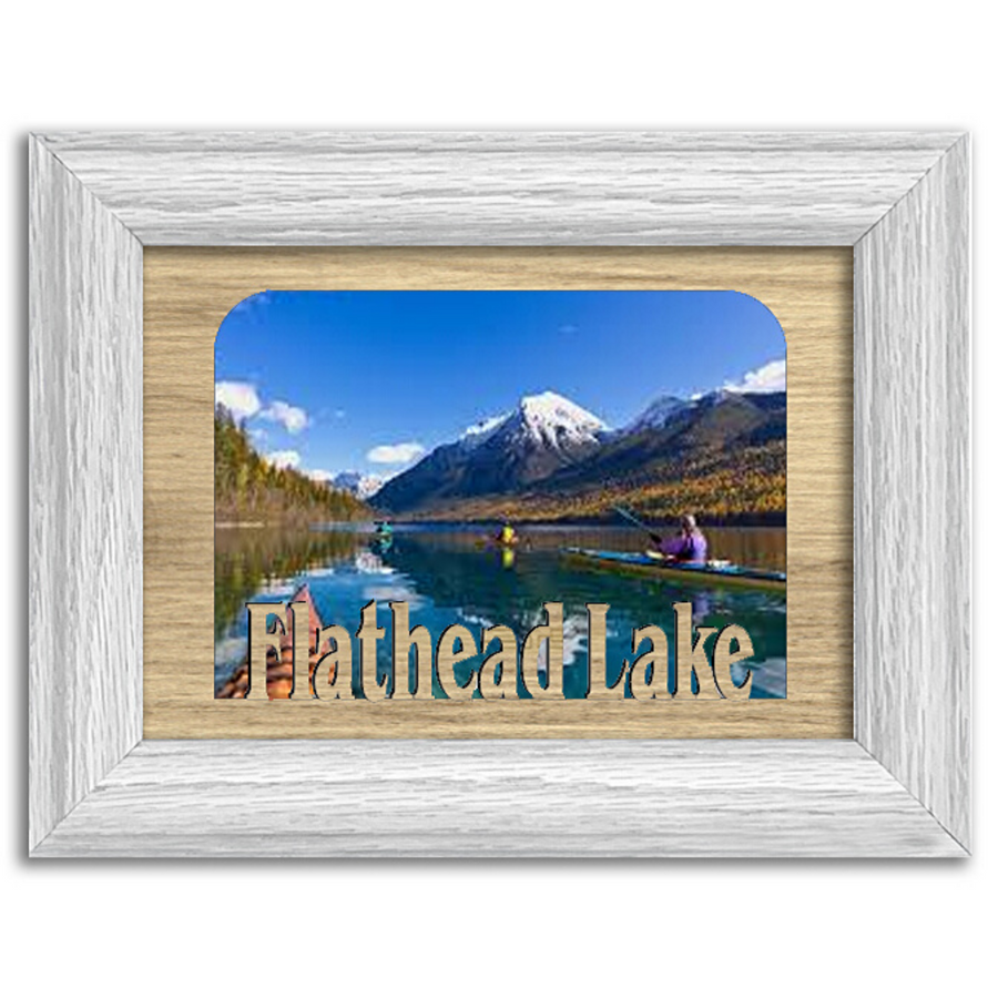 Montana Flathead Lake  Personalized Custom Lake Name Picture Frame 5x7