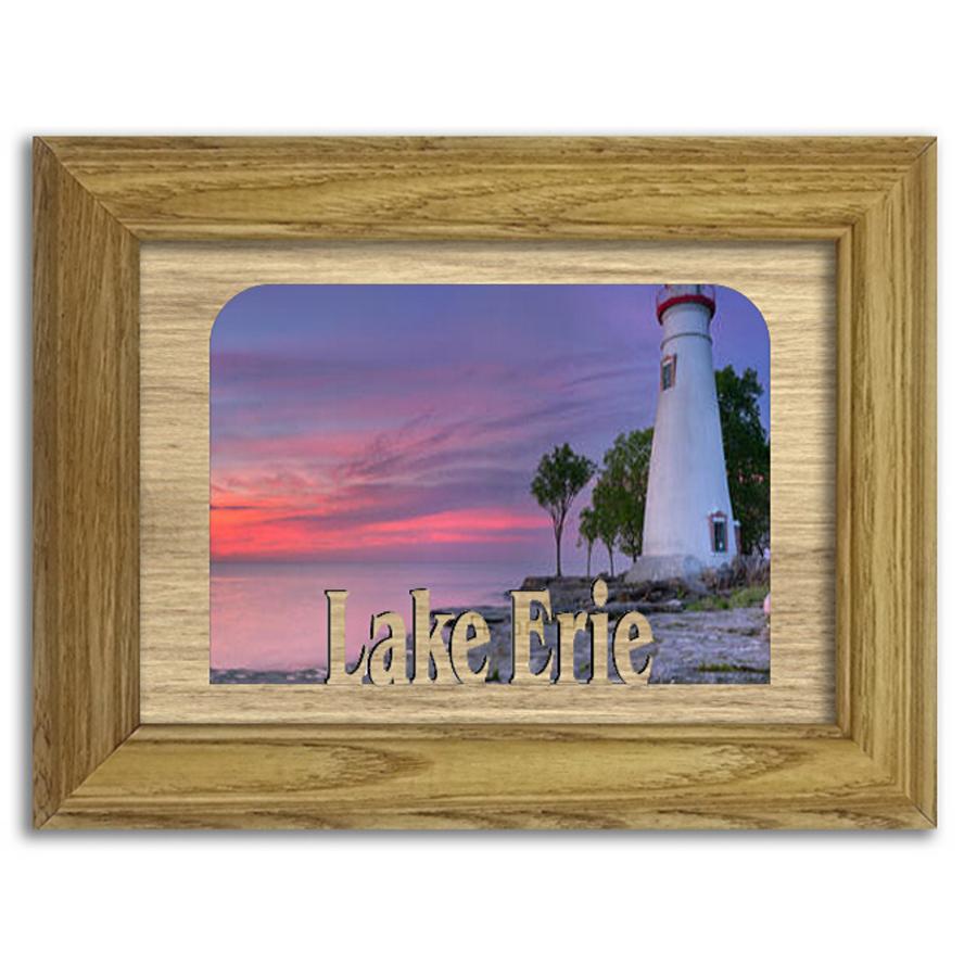 Ohio Erie Lake Personalized Custom Lake Name Picture Frame 5x7