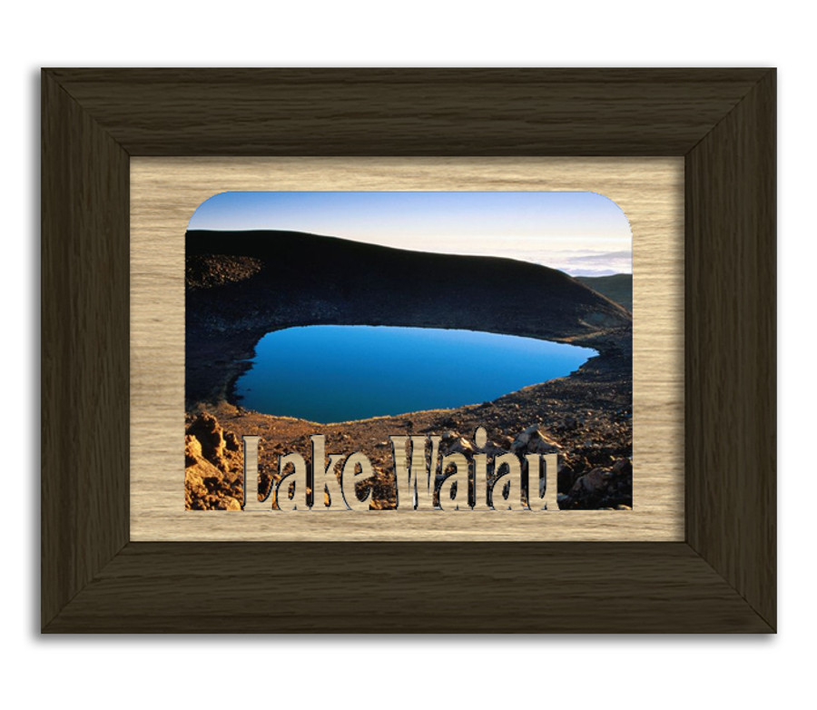 Hawaii Lake Waiau Personalized Custom Lake Name Picture Frame 5x7