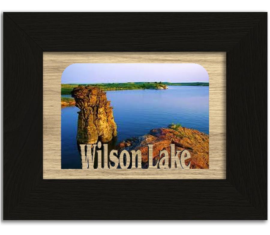 Kansas Wilson Lake Personalized Custom Lake Name Picture Frame 5x7