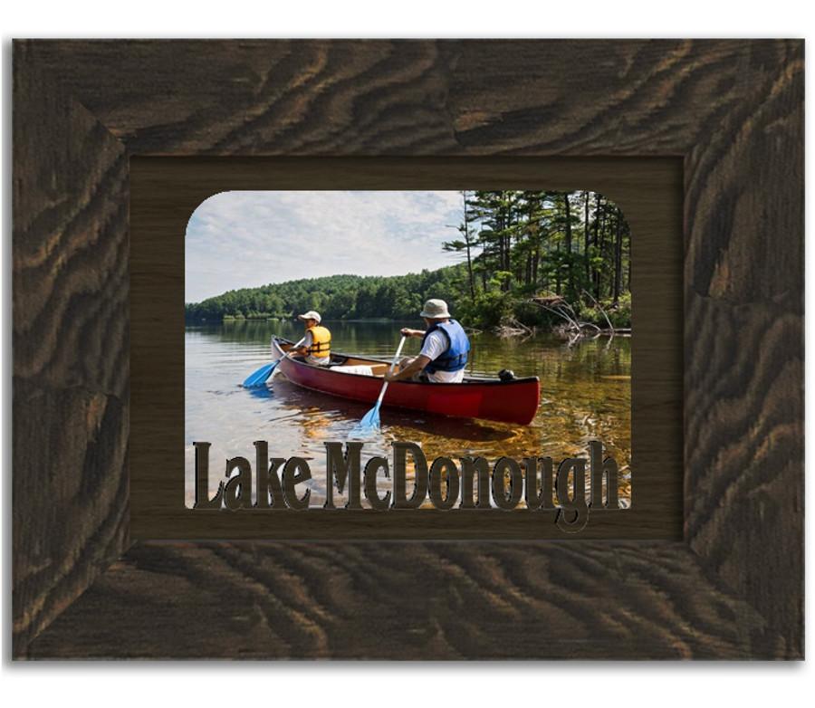 Lake McDonough Personalized Custom Lake Name Picture Frame 5x7