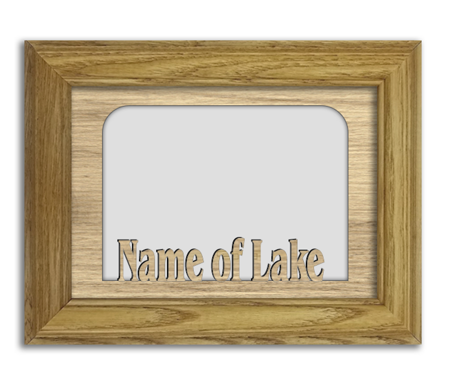 Personalized Custom Lake Tabletop Name Picture Frame