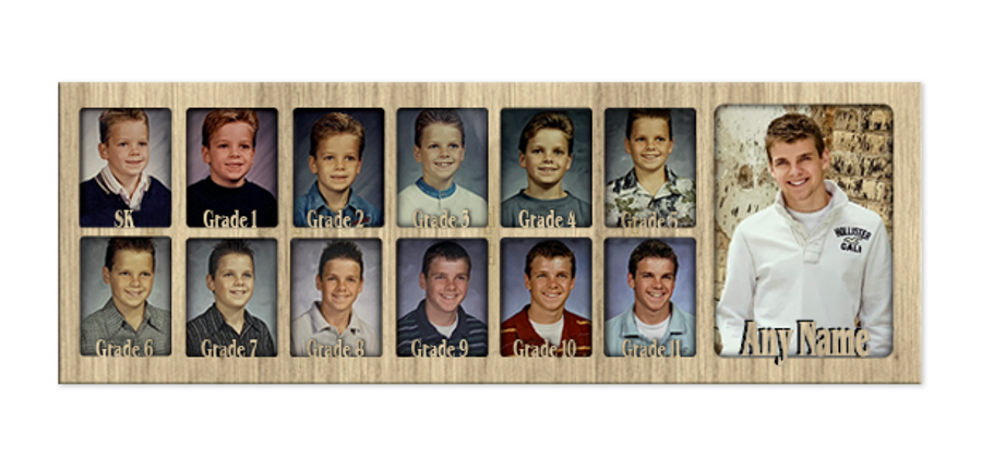 School Years Picture Insert Collage - Canada Grades Insert Only - Personalized - 7x20