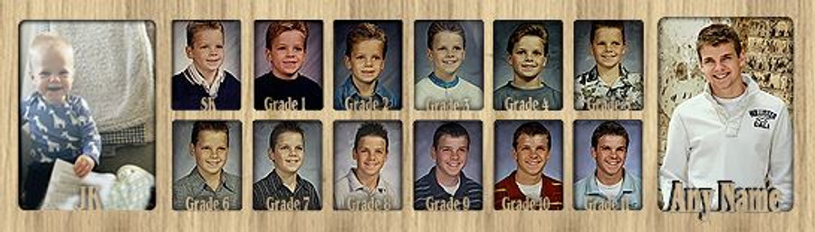 School Years Picture Insert Collage - Canada Grades - Personalized Insert Only - JK to Graduation - 7x25